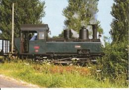 CF 290  Train Locomotive Gare :  Passage à Bonnétable Locomotive Vapeur Baptisée La Chéronne - France