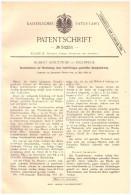 Original Patent - Hubert Kreutziger In Eschwege , 1889 ,mehrfarbiger Grundanstrich , Farbe , Maler , Malerei , Druckerei - Historische Dokumente