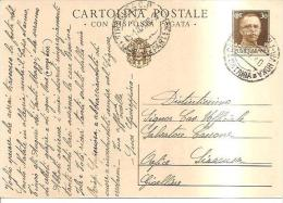 61150) Intero Postale Con Risposta Pagata Da 30c. Imperiale Da Caltagirone A Siracusa Il 5/1/1940 - 1900-44 Vittorio Emanuele III
