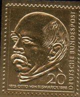 Raritäten In Gold BRD #463 ** 50€ Porträt Fürst Bismarck 1965 Edition Deutschland Mit 23 Karat Feingold Stamp Of Germany - BRD