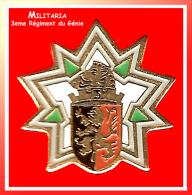 SUPER PIN´S MILITARIA : 3eme REGIMENT Du GENIE Avec écusson Franche Comté - Militair & Leger