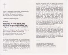 Maurits Wynsberghe (1903-1996) - Imágenes Religiosas