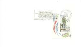REVOLUTION = 62 FOUQUIERES Les LENS 1989 = FLAMME Type II = SECAP   Illustrée ' Bicentenaire Exposition' - Marcophilie (Lettres)