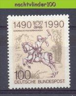 Mmg352 FAUNA PAARDEN ZOOGDIEREN POST MAMMALS HORSES PFERDE CHEVAUX DEUTSCHE BUNDESPOST BERLIN 1990 PF/MNH - Paarden