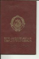 YOUGOSLAVIE, YUGOSLAVIA  ---  PASSPORT  --  LADY PHOTO  --  1987  ---  REISE NACH AUSTRIA, ITALIA - Historische Dokumente