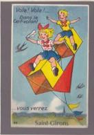 *Ariege - Saint Girons - Cerf Volant, Carte Systeme , Bien Complet Des Vues Multiples En Accordéon - Saint Girons