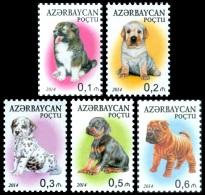 az1062 Azerbaijan 2014 Dog 5v