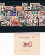Africa Ecuatorial Francesa. Conjunto De 34 Sellos Y 1 Hoja Bloque - A.E.F. (1936-1958)