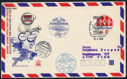 Czechoslovakia CSSR Stationery Balloon Flight Postmark Praga 1978 To Wipa 1981 - Ganzsachen