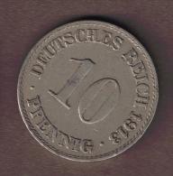 DEUTSCHES REICH 10 PFENNIG 1913 A - [ 2] 1871-1918 : German Empire