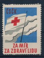 Czechoslovakia CSSR Red Cross Label (no Gum) Rotes Kreuz  Vignette - Tschechoslowakei/CSSR