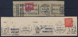 Czechoslovakia CSSR 1933 + 1935 Special Machine Postmark (2) On Piece Of Paper - Briefe U. Dokumente