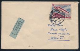 Czechoslovakia CSSR 1958 Airmail Cover Geophysics Satellite - Storia Postale