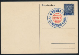 Czechoslovakia CSSR 1936 Special Postcard + Postmark Prazskeho Hlaholu Singing Music - Briefe U. Dokumente