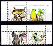 Australia 1998 Endangered Birds WWF Set Of 4 MNH - Neufs