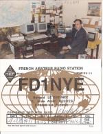 Photographie + Carte Qsl Radio Sarthe La Flèche 72 - Bernard Le Guennec 11  Allée Albert Gleizes,minitel Photo De 1989 - Oggetti