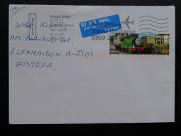 Cover Sent From GB UK Train Railway Comics - Briefe U. Dokumente