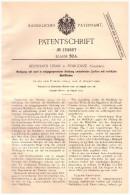 Original Patent - Bernhard Liban In Podgorze B. Krakau , 1901 , Mahlgang Für Mühle , Windmühle !!! - Historische Dokumente