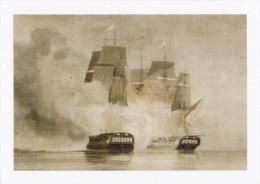 Maritime Art Postcard Frigate Arethuse Amelia Battle JC Schetky Ship Painting - Warships