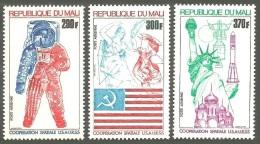 MALI 1975 SPACE CO-OPERATION RUSSIA USA ASTROLOGY LIBERTY BARTOLDI SET MNH - Mali (1959-...)