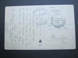 1940 , OLMÜTZ , Feldpostkarte Mit Truppensiegel - Allemagne