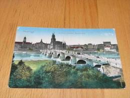Dresden Mit König Friedrich Augustbrücke. Germany - Dresden