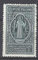 REGNO 1928  MONTECASSINO L10+1 USATO - Usati