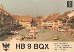Carte Radio Qsl -berne - Suisse - Aarberg - Max Rawyler - Since 1929 - BE Berne