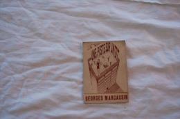 CARTE DE MEMBRE  SALLE GEORGES MARCASSIN CULTURE PHYSIQUE ANNEE 1945 - Tickets D'entrée