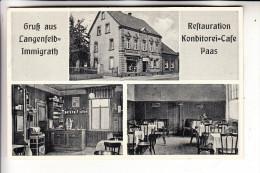 4018 LANGENFELD - IMMIGRATH, Restauration Konditorei Cafe Paas - Langenfeld