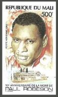 MALI 1986 FILMS CINEMA MUSIC SHOWBOAT PAUL ROBESON SHIPS IMPERF MNH - Mali (1959-...)