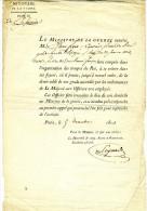 1814 -  Lettre Originale Du Ministère De La Guerre - Documentos Históricos