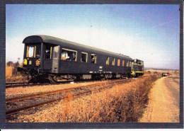 CF 307  Train Locomotive Gare :  Train D'inspection Des Armées Du Côté De Filay - Autres Communes