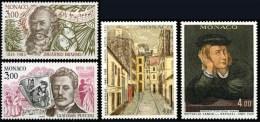 """MONACO N° 1389 à 1392 ( SERIE """" LES ARTS """" BRAHMS, PUCCINI, RAPHAEL, UTRILLO. ) 1983 - Ungebraucht"""