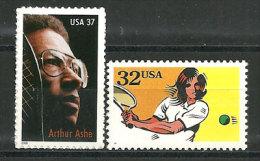 USA. Tennis (Arthur Ashe)  Sport Récréational.  2 T-p Neufs ** - Tennis