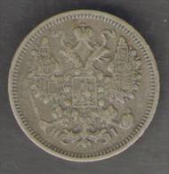 RUSSIA 15 Kopeks 1870  AG SILVER - Russia