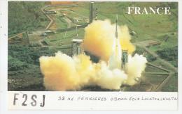 Carte Radio Qsl - Fusée Ariane De Guyane - F2sj - 09 - Foix - Ariège - Amateurfunk