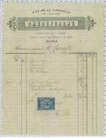 Pharmacie Chedevergne à Saumur En 1878, Avec Fiscal - Artigianato