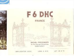 Carte Radio Qsl - Nancy - 54 - 24 Bld Georges Clémenceau - 1989 - Amateurfunk