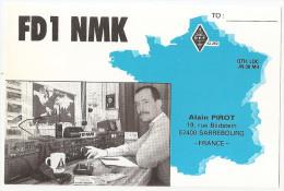 Carte Radio Qsl - Sarrebourg - 57 - Moselle - 19 Rue Bildstein - 1989 - Fd1 Nmk - Amateurfunk