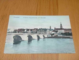 Dresden. Friedrich August-Brücke Mit Neustadt. Germany - Dresden