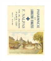 Pharrmacie Et Labo D´analyse F.Nalpas Paris 19ème/aquarelle Pont Notre-dame  Année 1954 - Calendriers