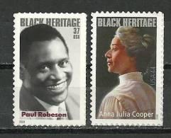 Paul Robeson, Grand Chanteur De Negro Spirituals & Anna J.Cooper.Ecrivain. Neufs ** - Etats-Unis