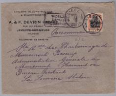 Belgien 1916-8-9 Liege-Luik Zensurbrief Nach La Louvière - WW I