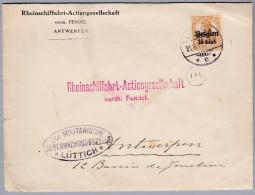 Belgien 1917-6-21 LÜTTICH Zensur Brief Nach Antwerpen - WW I