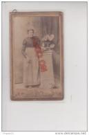 Au Plus Rapide CDV Italie Italia Salomone Cabaglio Portrait Femme éventail - Oud (voor 1900)