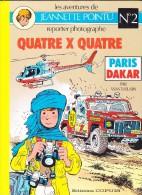 """Wasterlain -  Les Aventures De Jeannette Pointu - """" Quatre X Quatre """" - Éditions Dupuis- ( 1986 ) . - Bücher, Zeitschriften, Comics"""