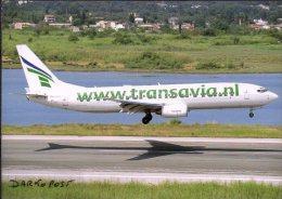Aerei Aircraft TRANSAVIA .COM B737-8K2 PH-HZE  Aviation Avion Aiplane CORFU - 1946-....: Moderne