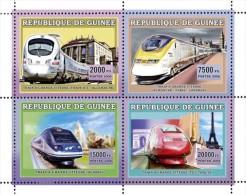 GUINEA 2006 - High Speed Trains - Mi 4393-6, YT 2779-82 - Trains