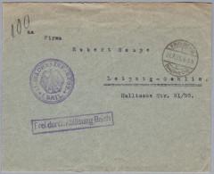 "Heimat De SA FREIBERG 1925-7-24 Brief Nach Leipzig""Frei Durch Ablösung Reich"" - Germany"